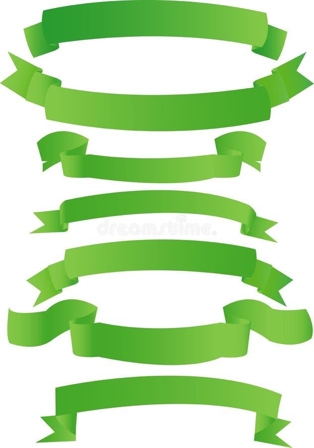 Drapeaux verts illustration de vecteur