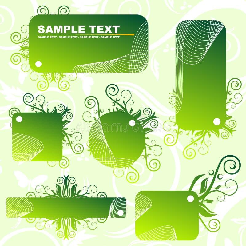 Drapeaux verts illustration stock