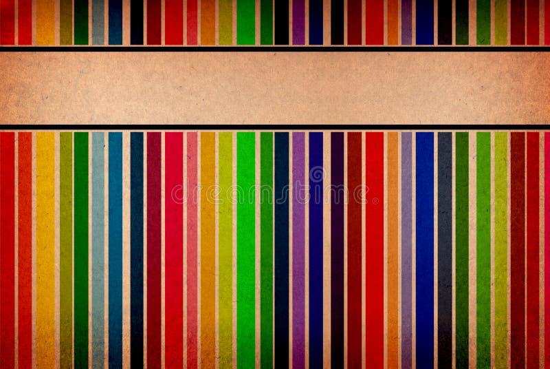 Drapeaux vides colorés sur un fond sale illustration libre de droits