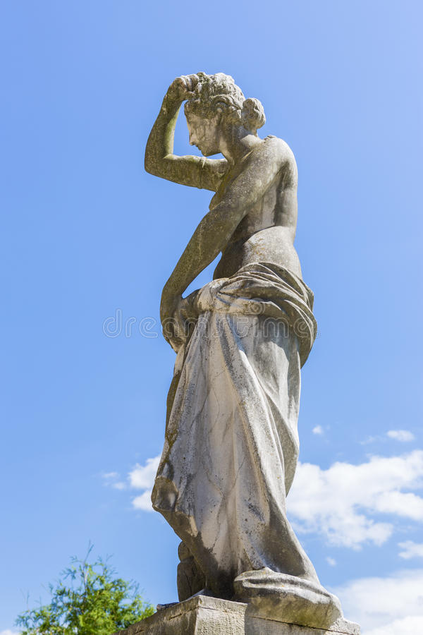 Draped woman statue royalty free stock photography
