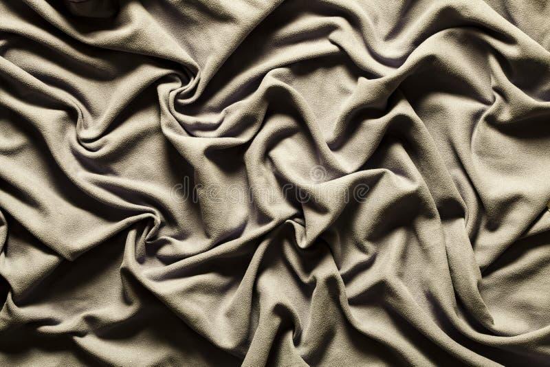 Drapera skinande grå tappning för tygtorkduk wavy bakgrund fotografering för bildbyråer