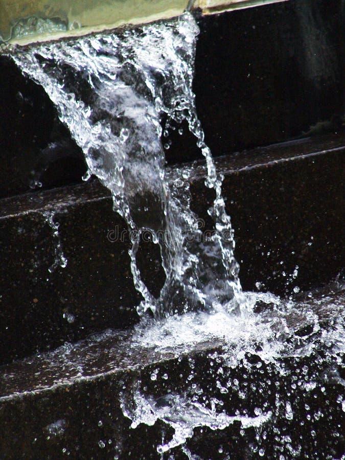 Draperend water stock foto's