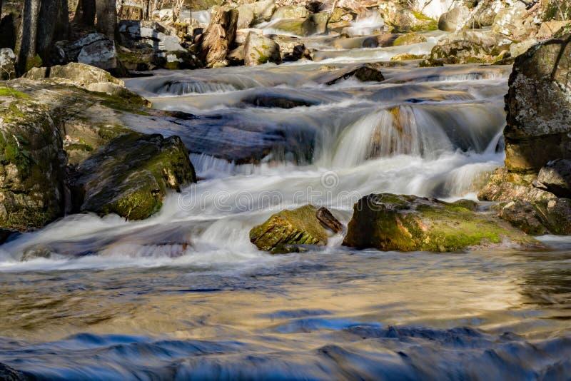 Draperende Watervallen, Virginia, de V.S. royalty-vrije stock foto
