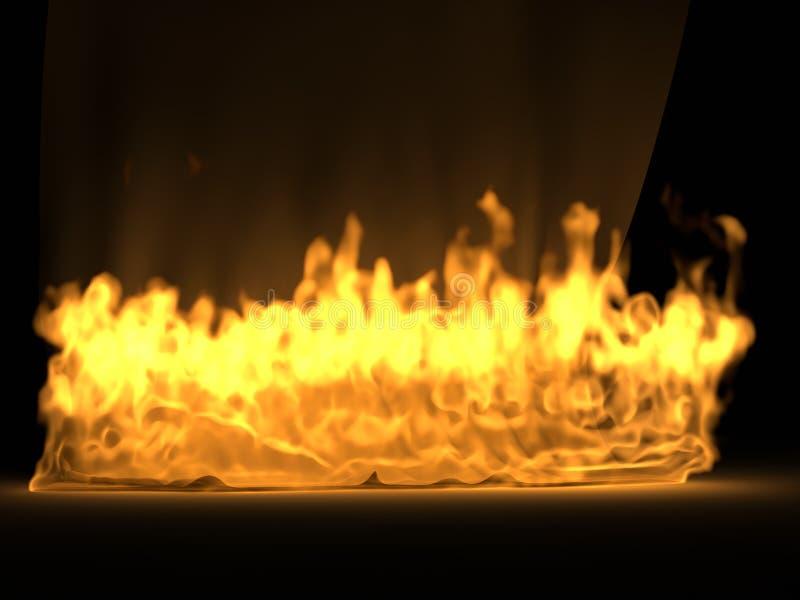 Draperie En Soie Dans L Incendie Photos libres de droits