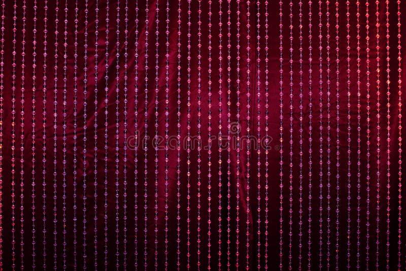 Drapery de cristal com tela vermelha fotos de stock