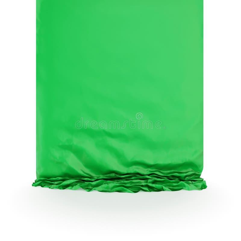 Drapery de seda verde.
