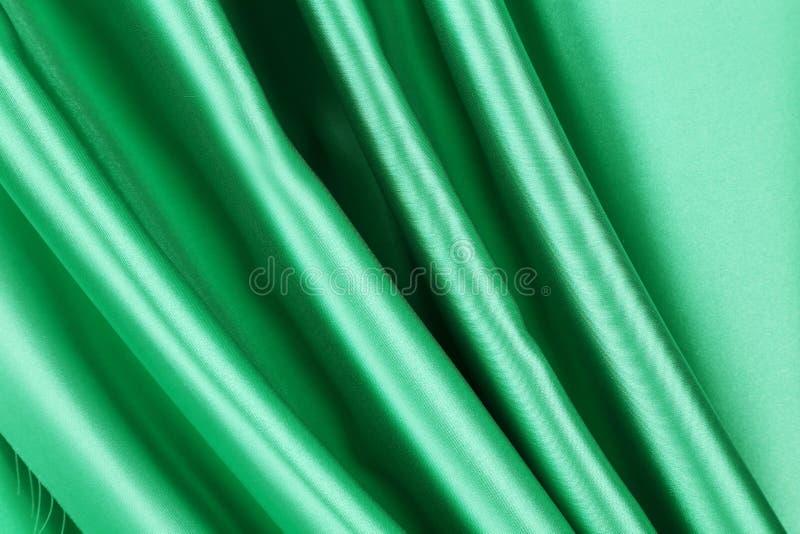 Drapery de seda verde ilustração do vetor