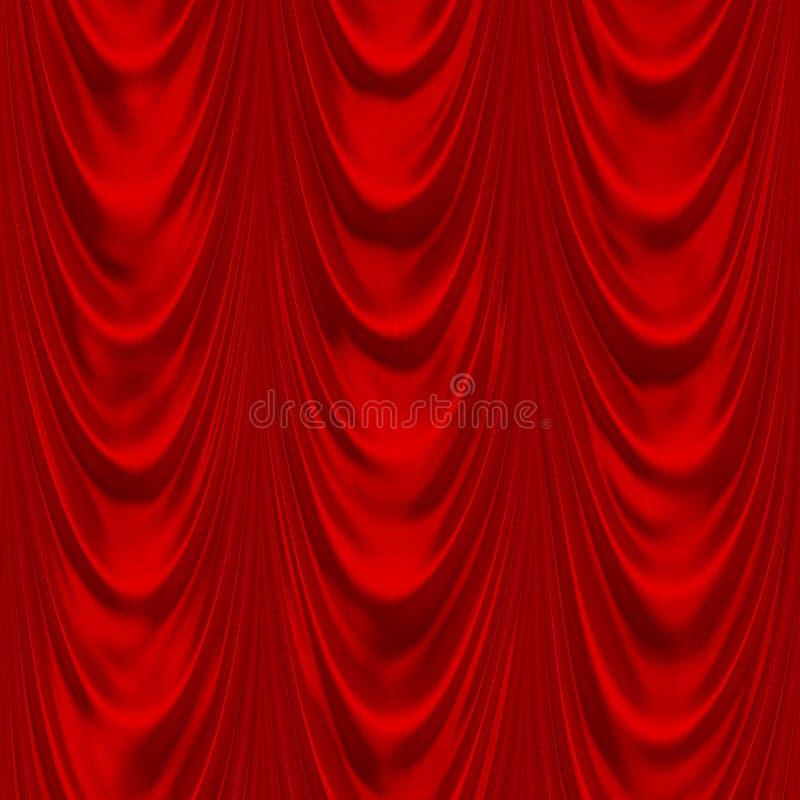 Drapery vermelho ilustração royalty free