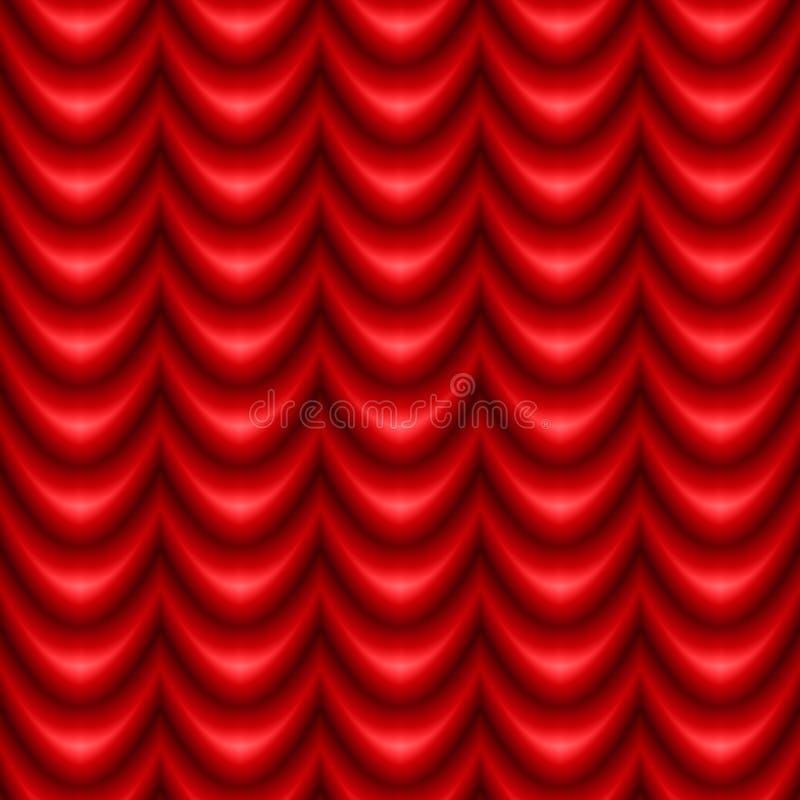 Drapery vermelho ilustração stock