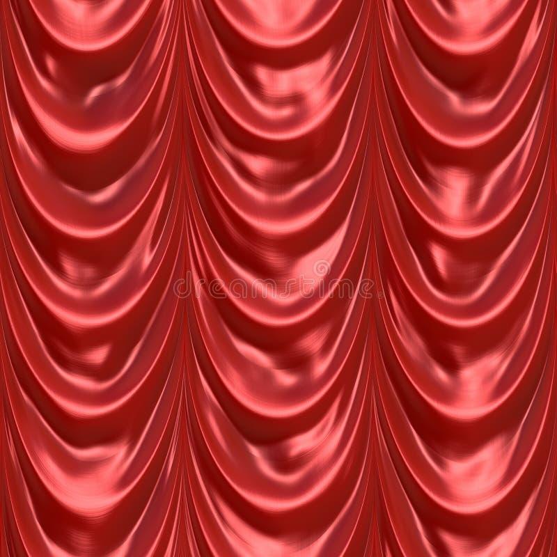 Drapery vermelho da cortina ilustração royalty free