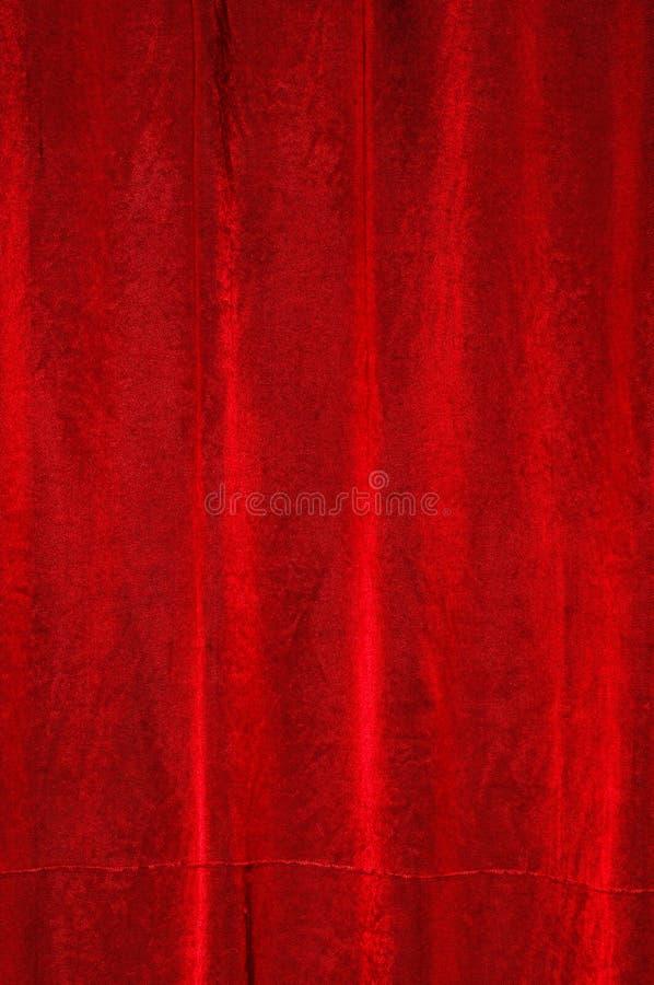 Drapery vermelho do cetim imagens de stock