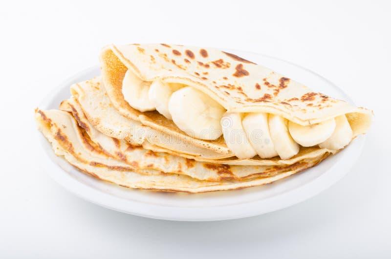 Drappeggia con crespo bio- casalingo, la fotografia dell'alimento, dessert delish fotografia stock libera da diritti