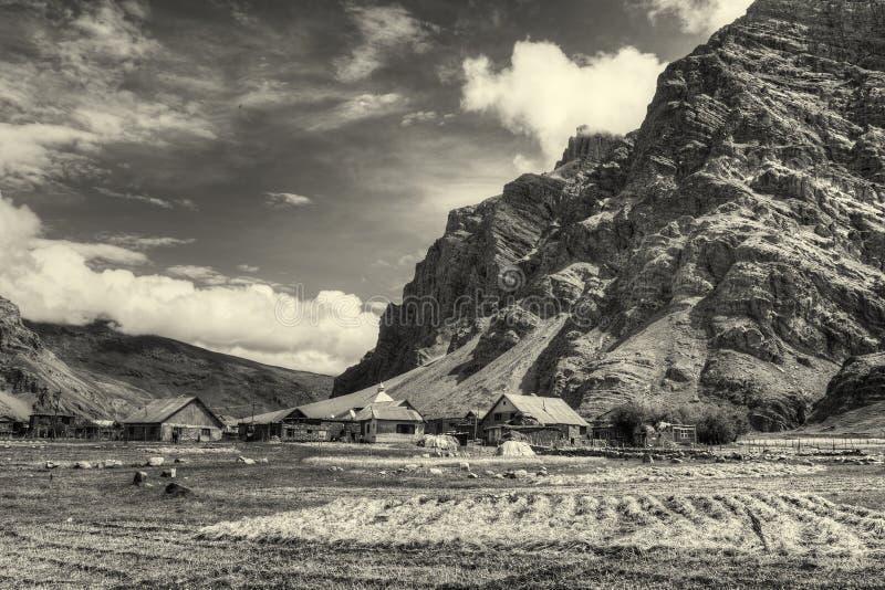 Drass by, Kargil, Ladakh, Jammu and Kashmir, Indien arkivfoton