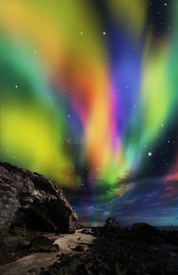 Drastische Aurora lizenzfreies stockfoto