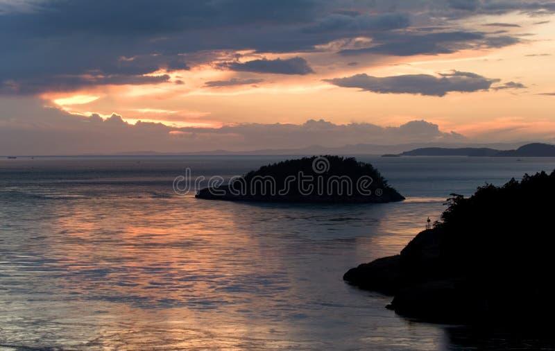 Drastischer Sonnenuntergang Stockfoto