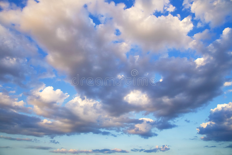 Drastisches cloudscape stockfotografie