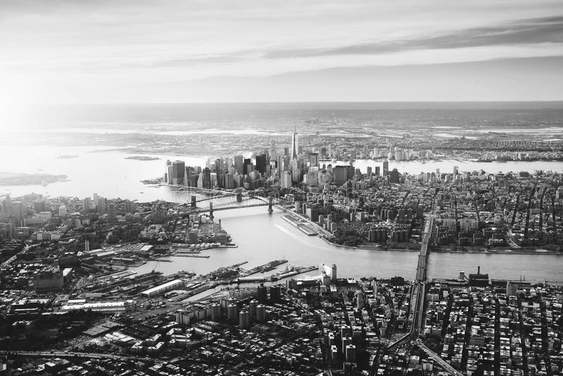 Drastisches NYC stockbild