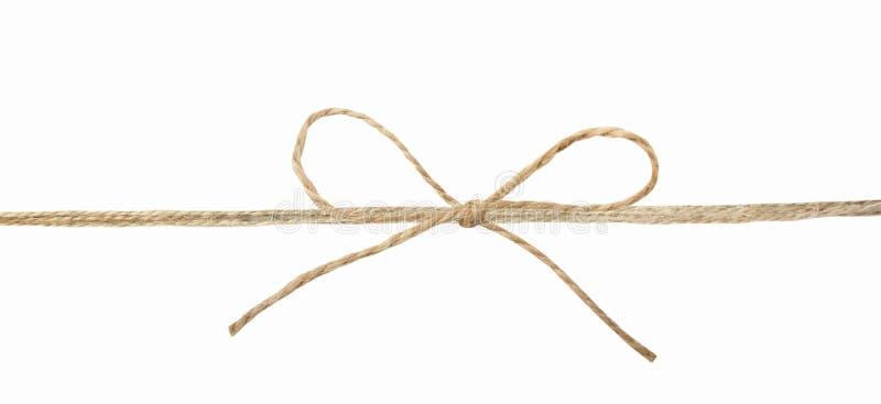Dratwa faborek z łękiem odizolowywającym Pakować sznurek zdjęcia stock