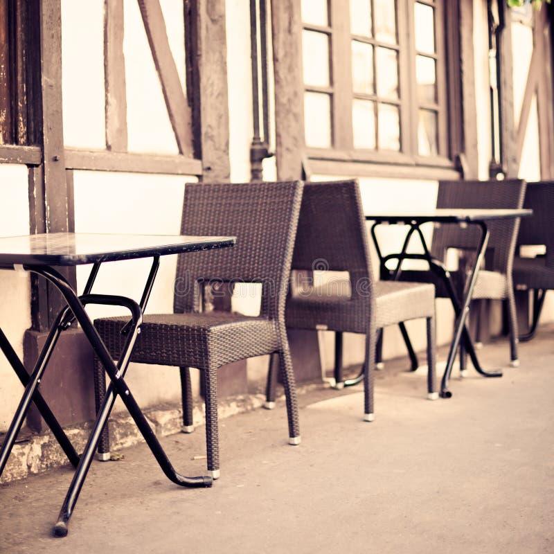 Draußen Café in Paris stockfoto