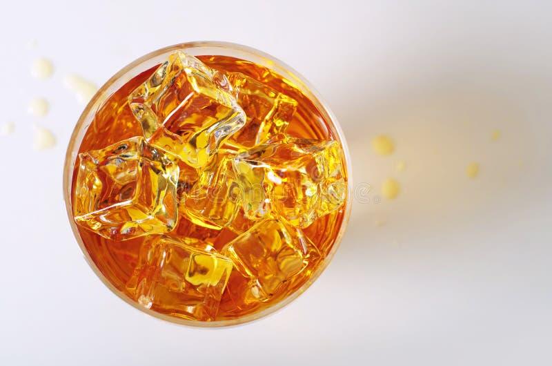 Draufsicht über Getränk stockfotografie
