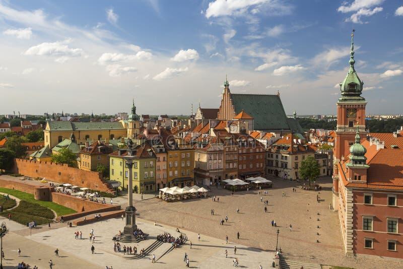 Draufsicht der alten Stadt in Warschau, Polen Reise lizenzfreies stockfoto