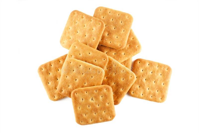 Draufsicht der Cracker lizenzfreie stockfotografie