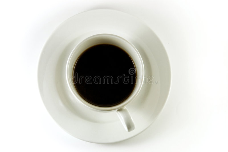 Draufsicht der Kaffeetasse lizenzfreie stockfotografie