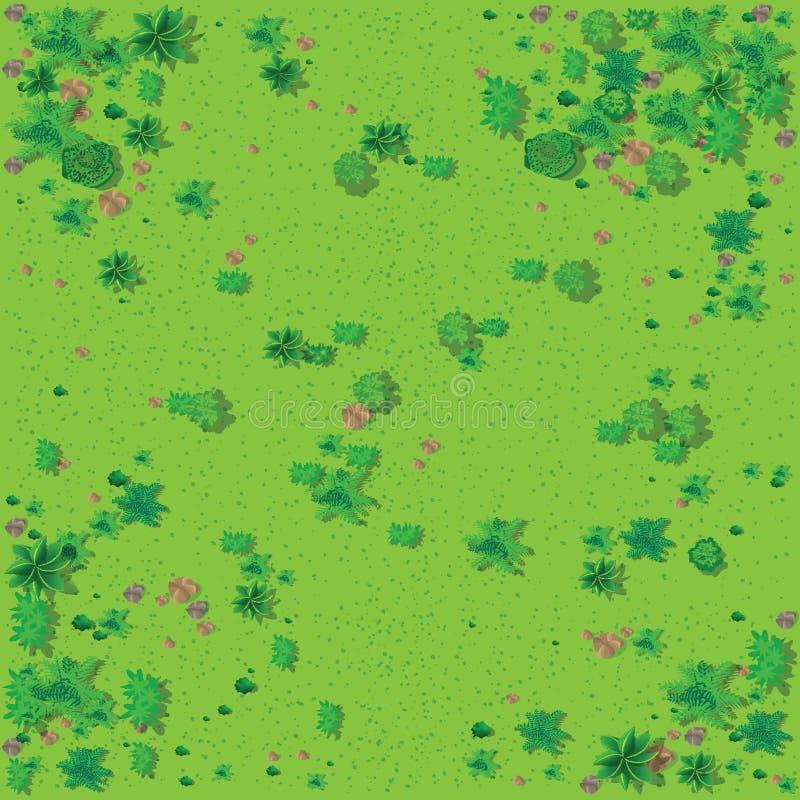 Draufsicht der Landschaft vektor abbildung