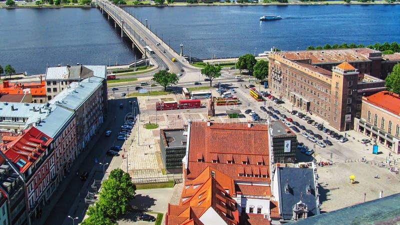Draufsicht der lettischen Riflemen quadratisches Riga, Lettland stockfoto