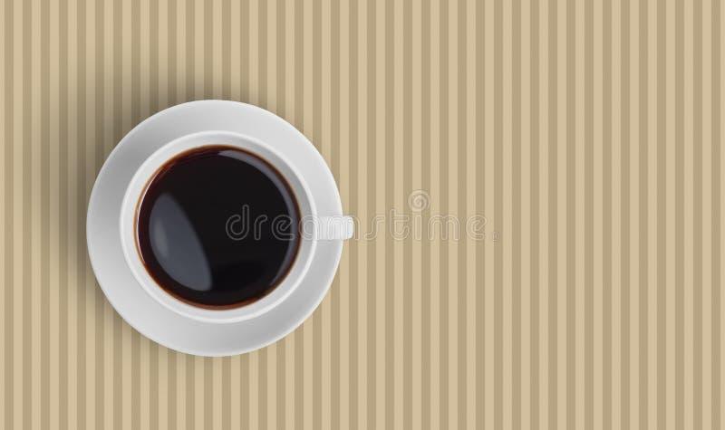 Draufsicht der schwarzen Kaffeetasse stockfotografie