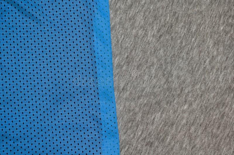 Draufsicht der Stoff-Textiloberfläche Nahaufnahme zerzauste Heizungs- und Maschenwarebeschaffenheit mit einem dünnen gestreiften  stockbild