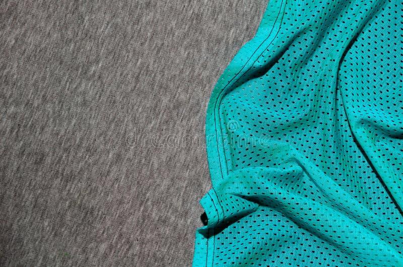 Draufsicht der Stoff-Textiloberfläche Nahaufnahme zerzauste Heizungs- und Maschenwarebeschaffenheit mit einem dünnen gestreiften  stockbilder