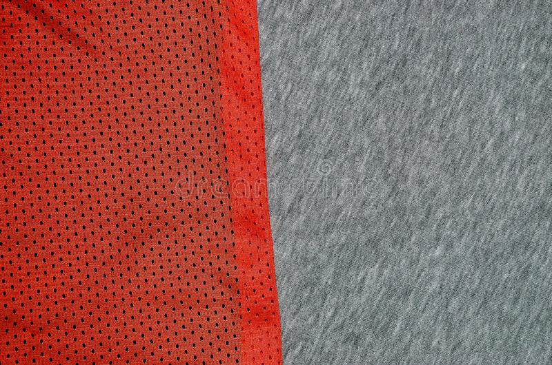 Draufsicht der Stoff-Textiloberfläche Nahaufnahme zerzauste Heizungs- und Maschenwarebeschaffenheit mit einem dünnen gestreiften  stockfotografie