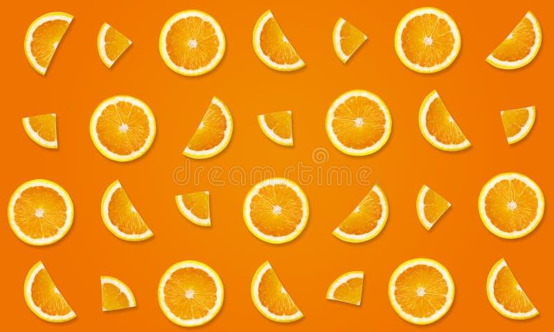 Draufsicht des Fruchtmusters von den Orangen stockfotos