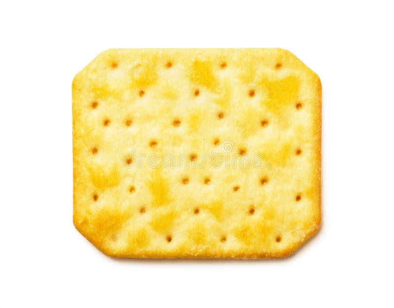 Draufsicht des käsigen Crackers lizenzfreie stockbilder