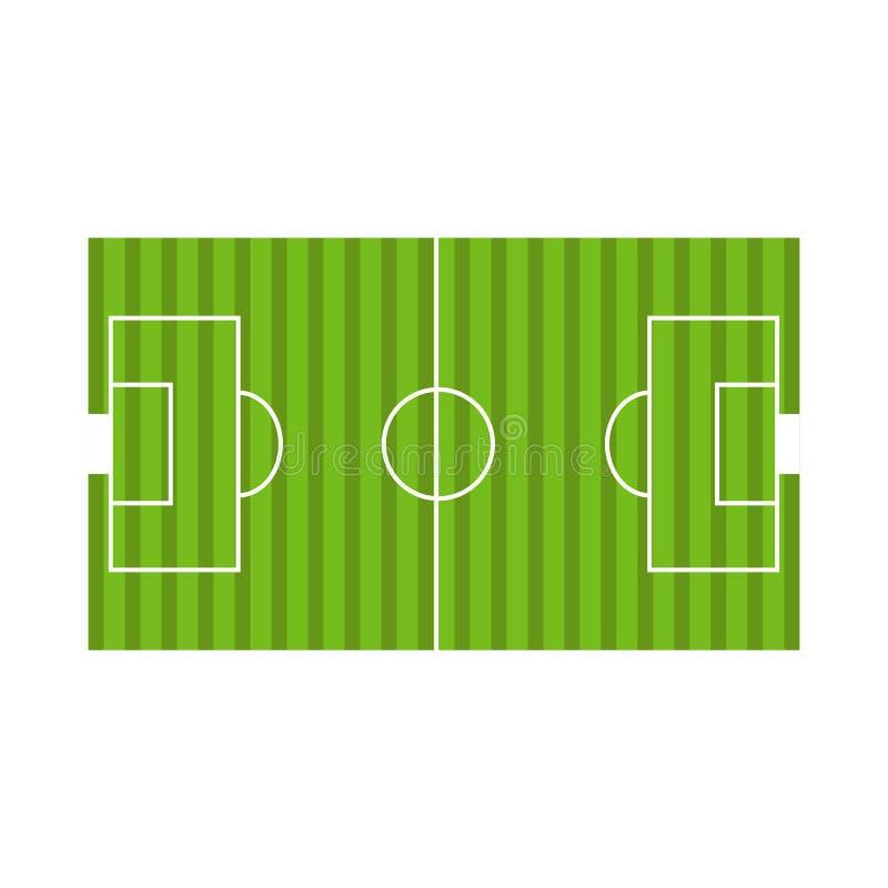 Draufsicht eines Fußballplatzes lizenzfreie abbildung