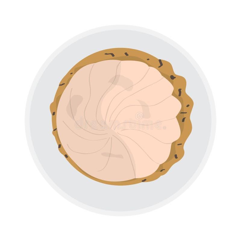 Draufsicht eines glasig-glänzenden Plätzchens lizenzfreie abbildung