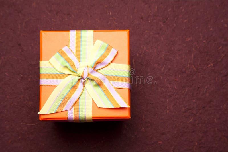 Draufsicht-Geschenk-Kasten stockbilder