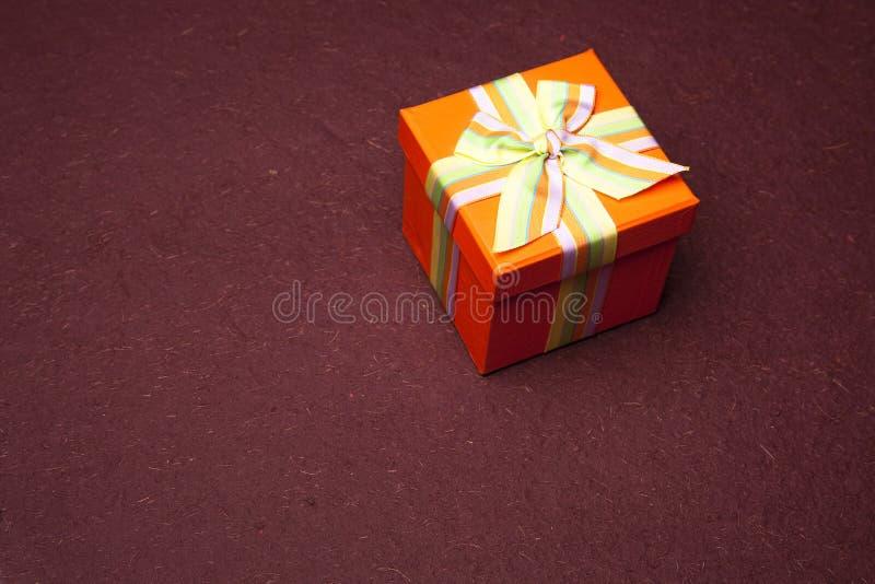 Draufsicht-Geschenk-Kasten lizenzfreies stockfoto