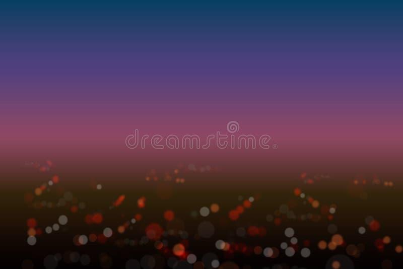 Draufsicht Hintergrundlichtnachtstadt bokeh Effektes vektor abbildung