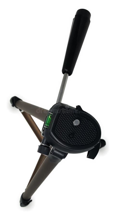 Draufsicht-leichter Stativ mit Wasserwaage stockfotografie