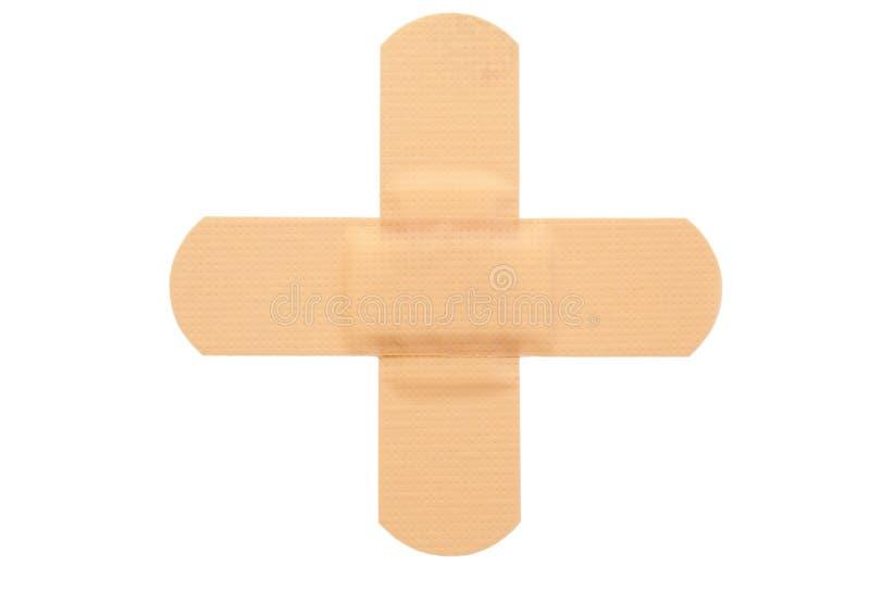 Draufsicht von band-aid lizenzfreie stockbilder
