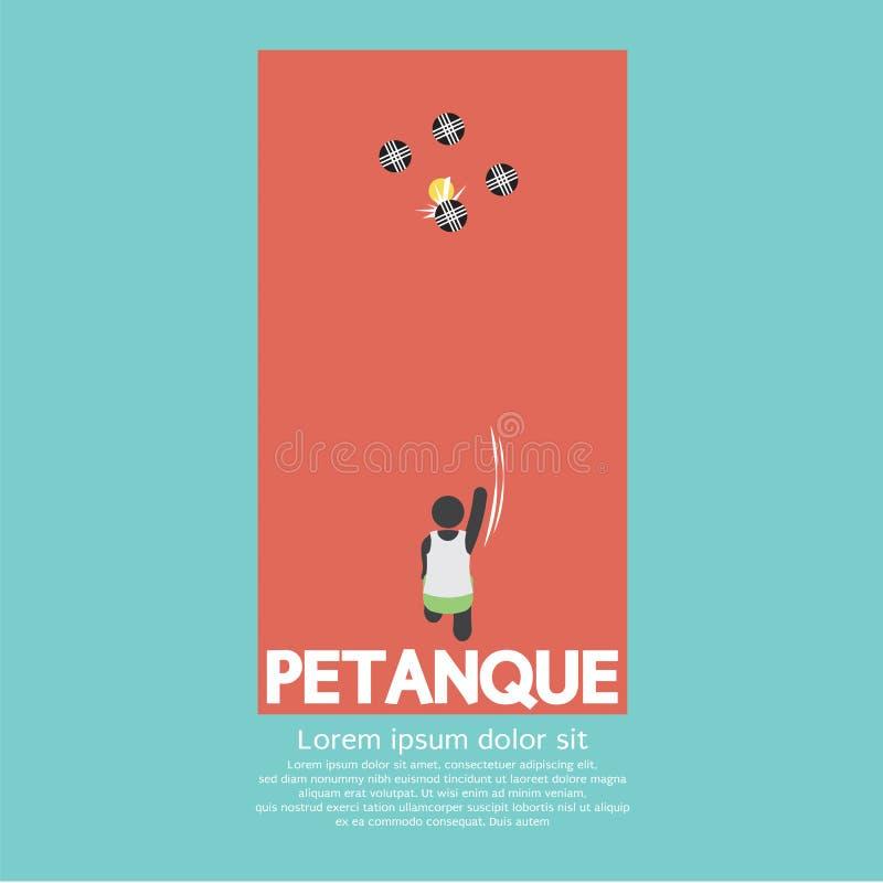 Draufsicht von Petanque Spielen stock abbildung