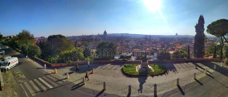 Draufsichten des Dachs von Rom, Italien lizenzfreie stockbilder