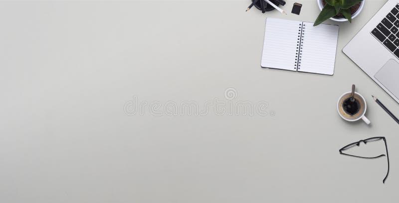 Draufsichtschreibtisch stockfotografie