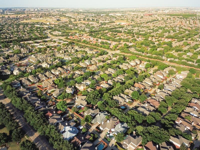 Draufsichtzersiedelung im größeren Dallas-Fort wert Bereich lizenzfreies stockfoto
