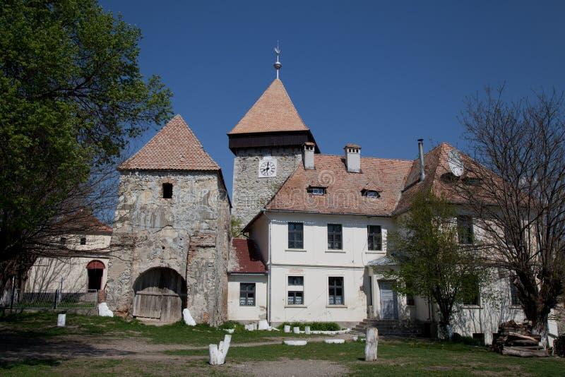 drauseni堡垒农民 免版税图库摄影