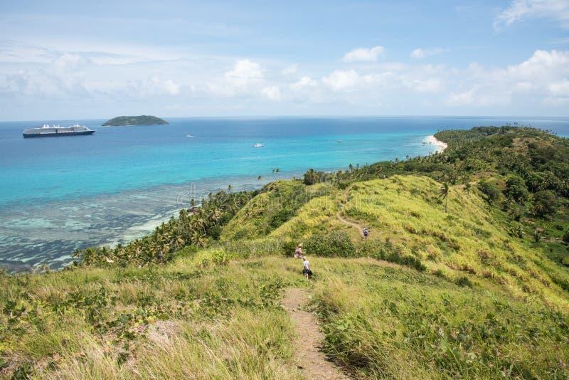 Dravuni wyspa: Morza, Rafowego i Tropikalnego krajobraz, fotografia royalty free