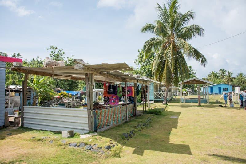 Dravuni wyspy rynku kram fotografia stock