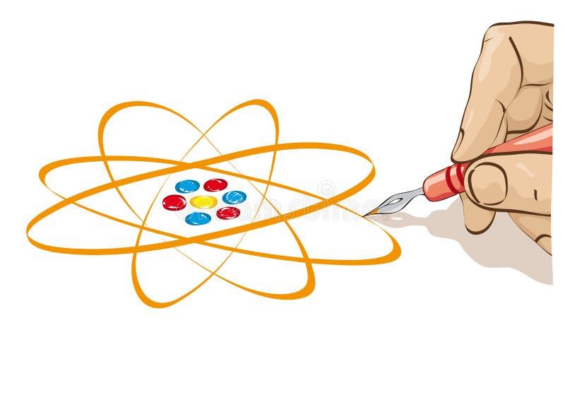 Draw The Atom Stock Photo